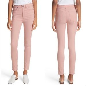 Rag & Bone High Rise Skinny Jeans - Blush Twill